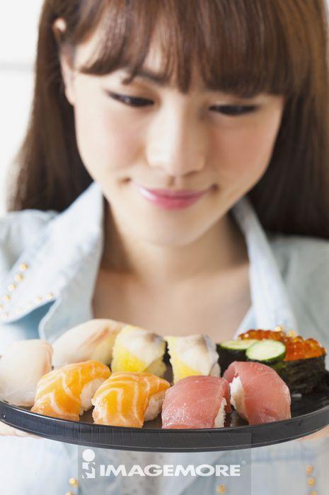 女性,寿司,