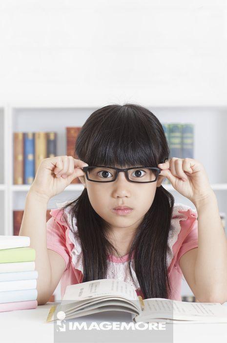 ,儿童,眼镜,