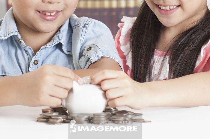 ,儿童,小猪储蓄罐,储蓄,