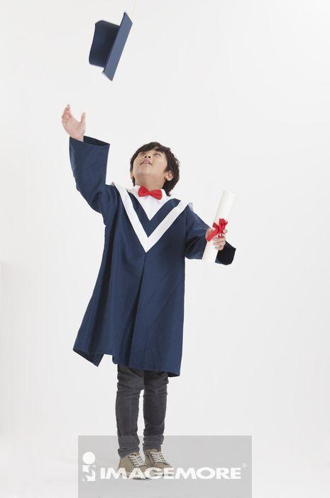 ,儿童,毕业,