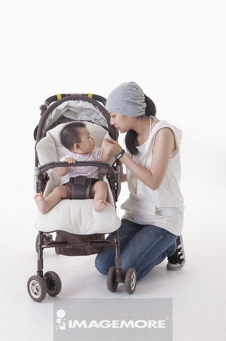 婴儿,婴儿车,母亲,