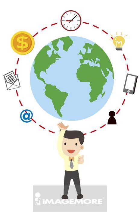 ,插画,商业人物,商业人士,商务人士,全球商业,