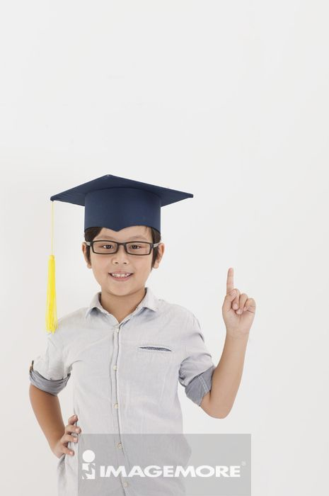 ,儿童,学士帽,