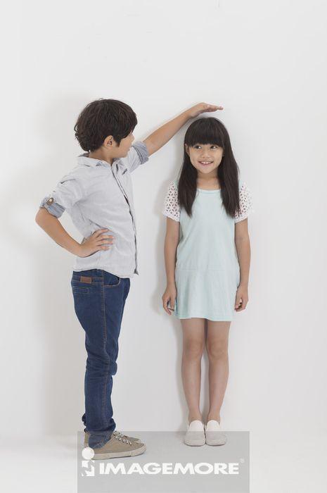 ,儿童,测量,身高,