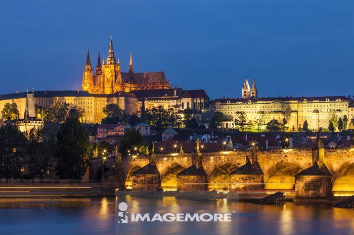 ,欧洲,捷克,布拉格,查理士大桥,伏尔塔瓦河,