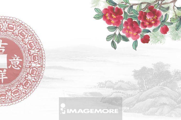 ,新年,春节,国画,