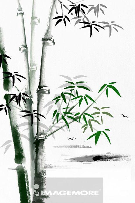 国画,竹子,