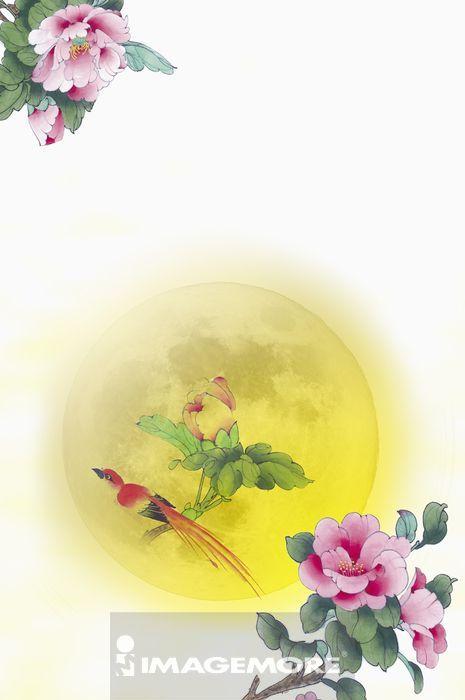 ,月亮,中秋节,国画,