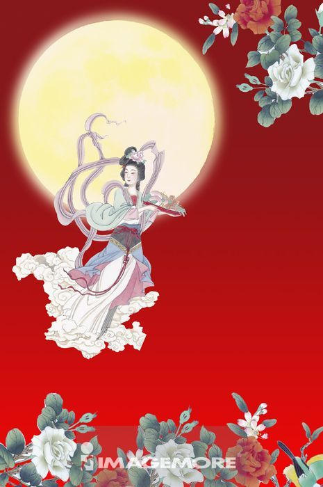 ,月亮,中秋节,国画,嫦娥,