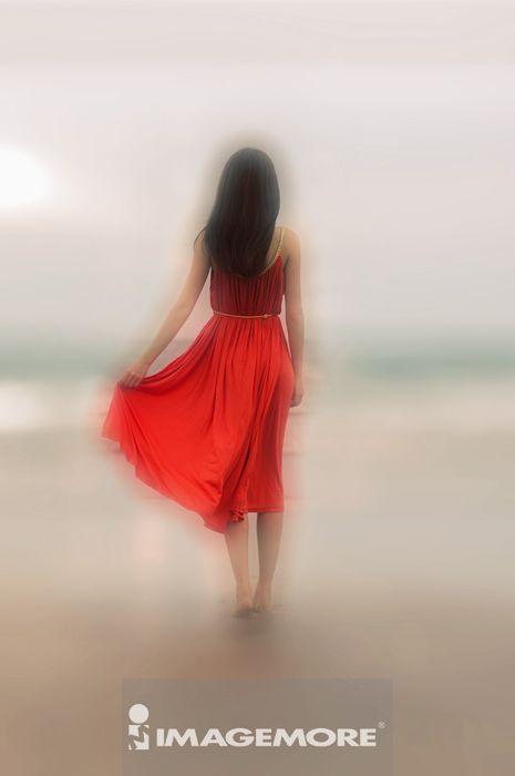 ,宁静的人,孤独,女性,