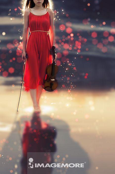 ,女性,小提琴家,