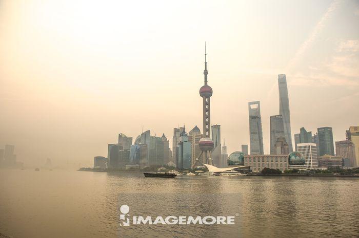 上海,中国,上海东方明珠塔,陆家嘴金融贸易区,