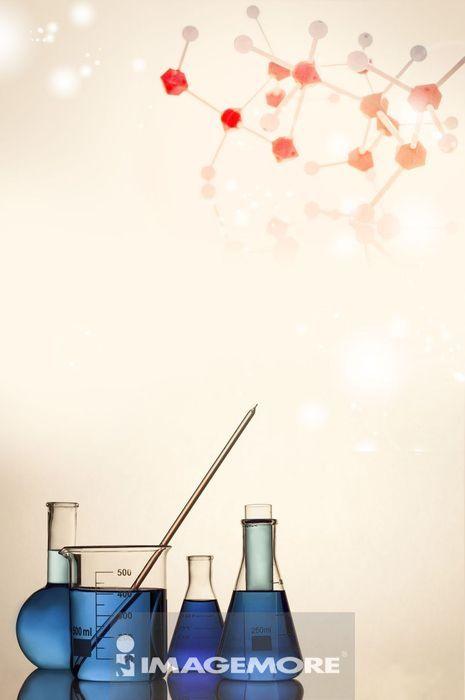 医疗和医学,数码合成,实验室玻璃器皿,器具,