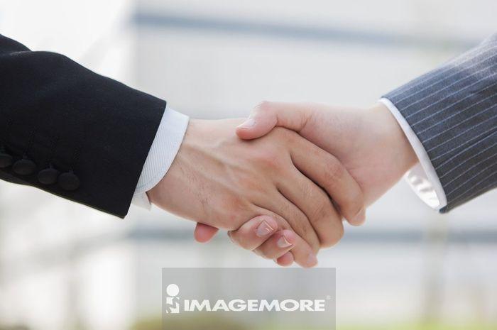 商业人物,握手,