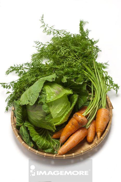 胡萝卜,高丽菜,蔬菜,