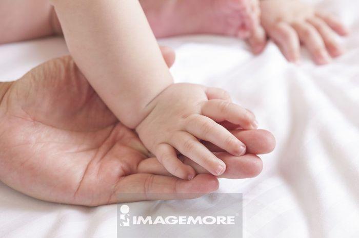 婴儿,手掌,