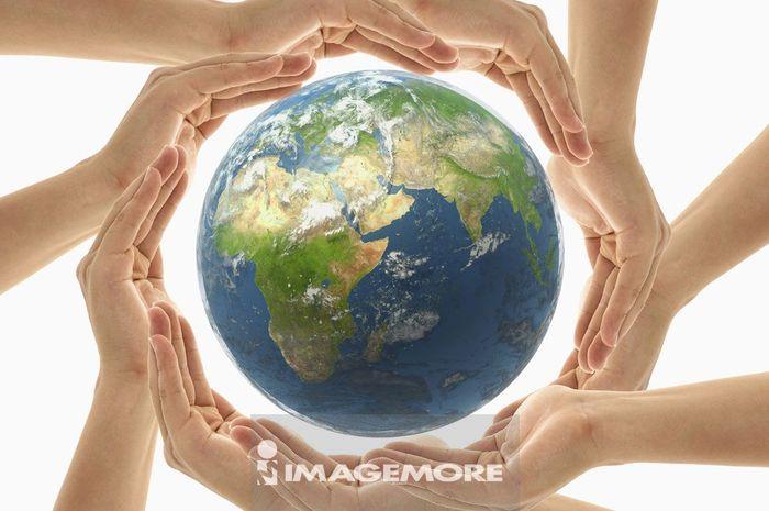 人物手部,地球,守护,