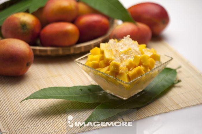 芒果,水果,芒果冰,