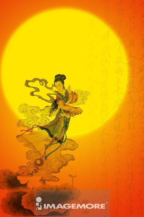 国画,中秋节,月亮,嫦娥,