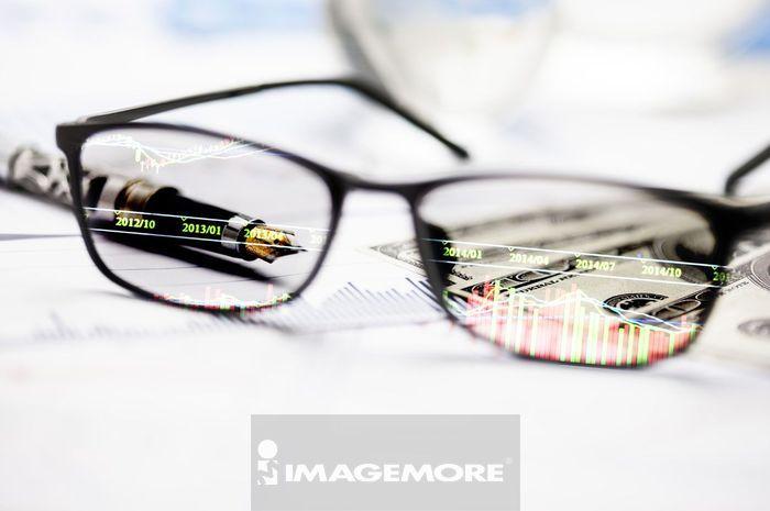 投资,金融,眼镜,