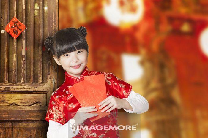 新年,春节,儿童,紅包,