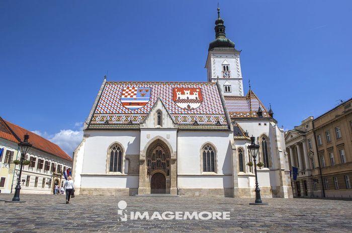 圣马可大教堂,萨格勒布,克罗地亚,