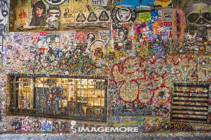 口香糖墙,西雅图,华盛顿州,北美洲,美国,
