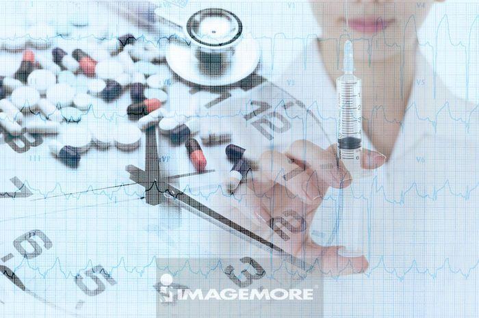医疗和医学,医生,心电图,