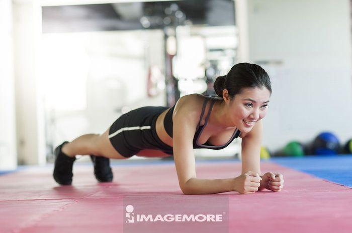 女性,运动,健身,