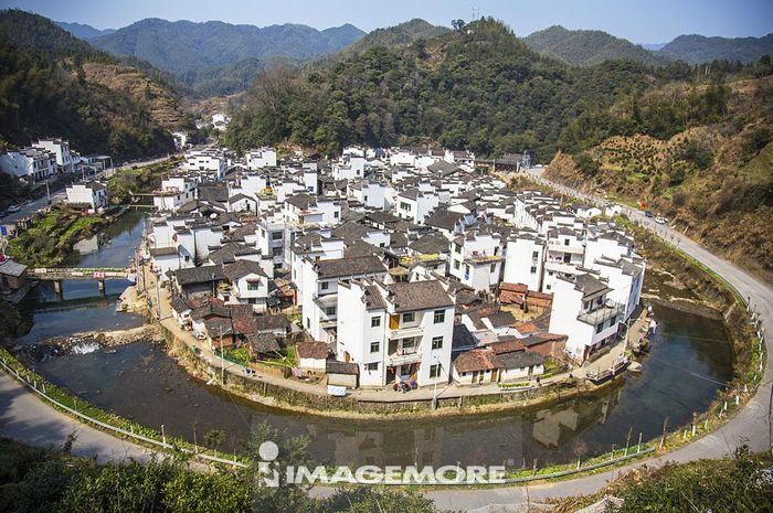 城镇,菊径村,江西省,中国,