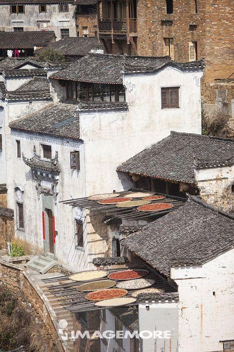 城镇,篁岭,婺源,江西省,中国,
