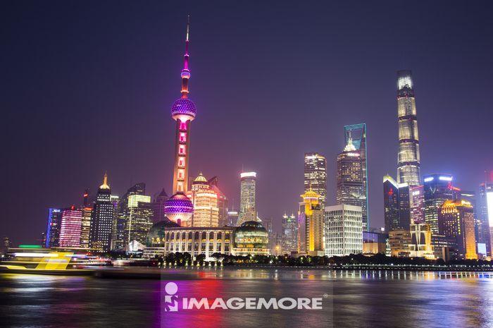 外滩,浦东,上海,上海东方明珠塔,