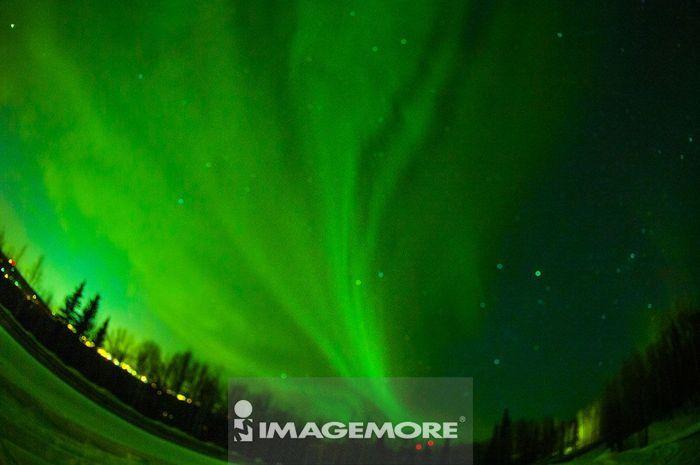 北极光,费尔班克斯,阿拉斯加,美国,