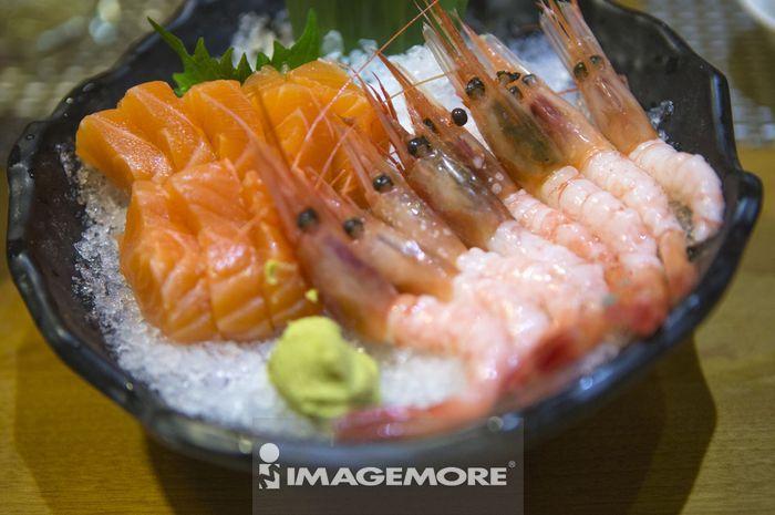 甜虾,生鱼片,海鲜,