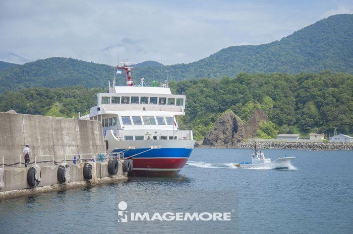 知床半岛,观光船,北海道,日本,亚洲,