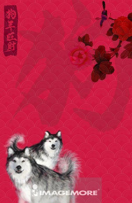 画画,绘画,国画,丹青,水墨画,花鸟画,工笔画,生肖,十二生肖,狗年,新年