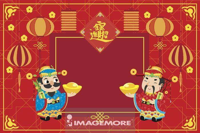 财神爷,新年,春节,