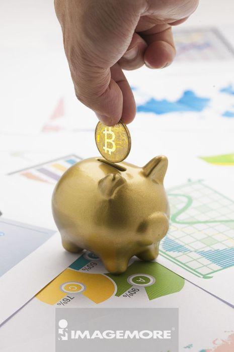 小猪储蓄罐,比特币,投资,理财,