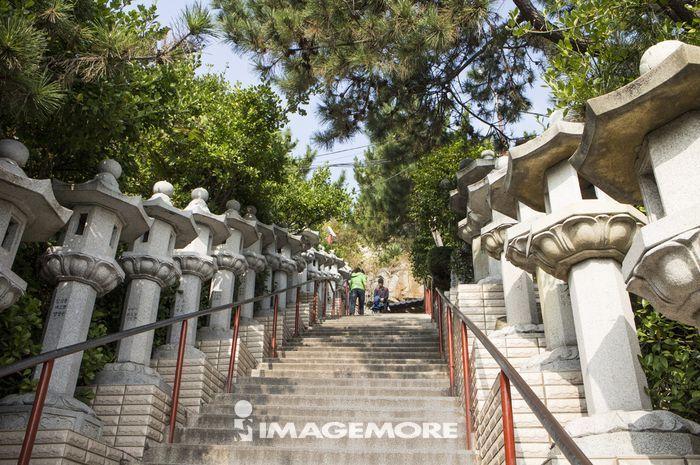石灯笼,海东龙宫寺,釜山,韩国,