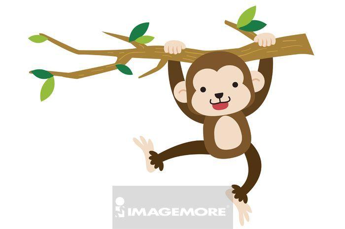 简单可爱的猴绘画