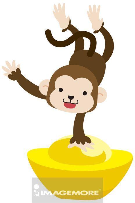 背景,彩图,影像,一只动物,电脑绘图,插画和绘画,插画,imcseries,猴子