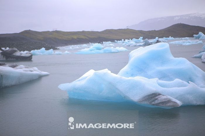 杰古沙龙冰河湖,冰岛,欧洲,