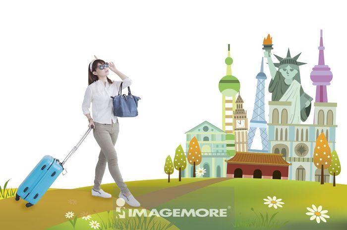女性,环游世界,
