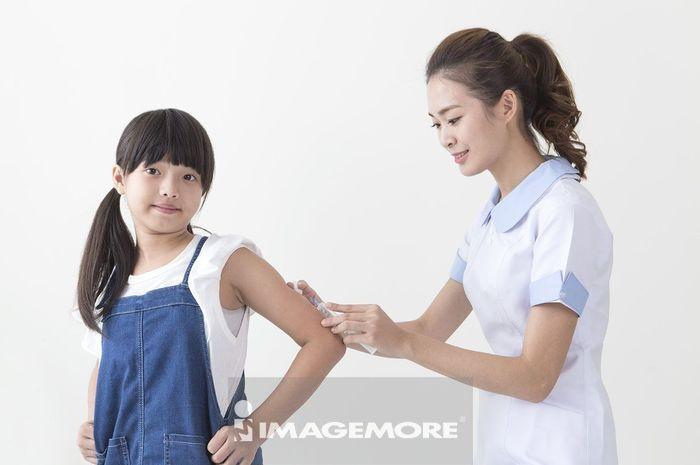 儿童,女护士,注射,