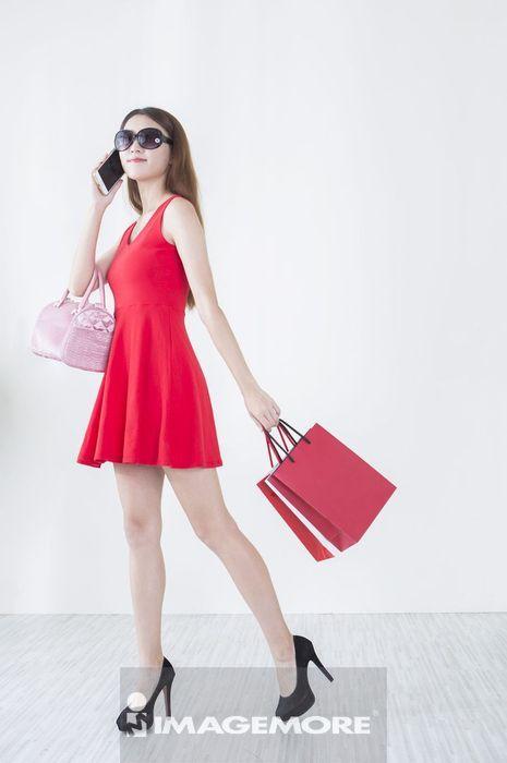 女性,逛街,购物,