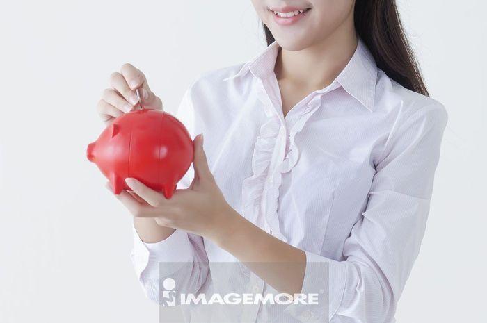 办公女性,储蓄,
