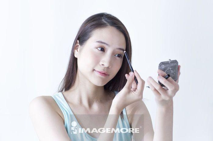 女性,化妆,画眉,