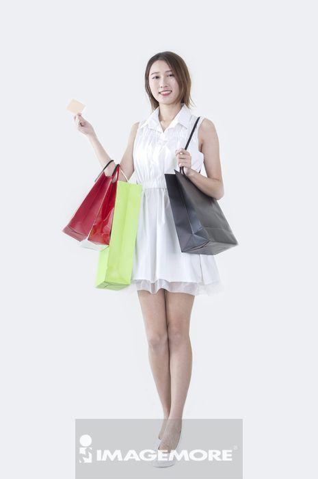 女性,购物,信用卡,刷卡,