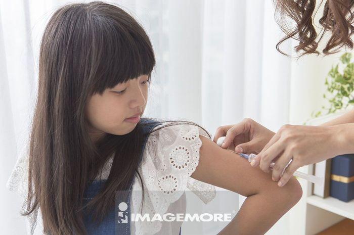 女护士,儿童,注射,