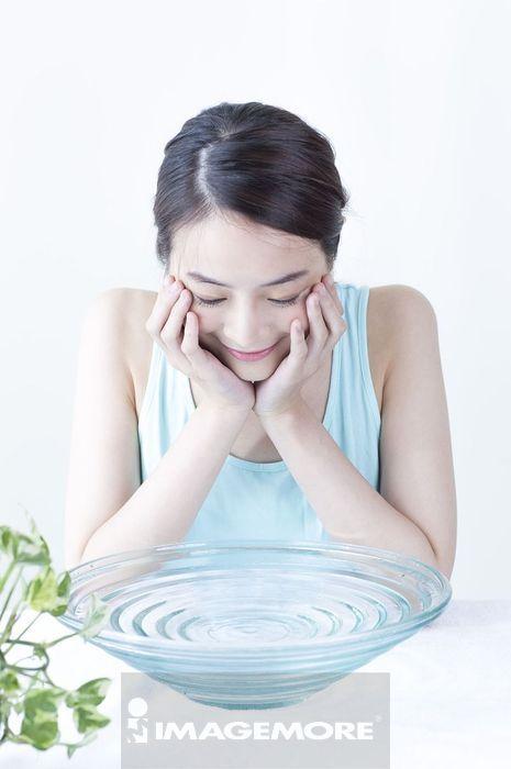 女性,洗脸,